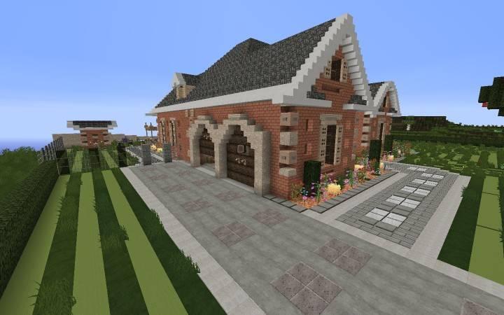 Large Suburban House Minecraft Building Amazing Idea House Plans 82446