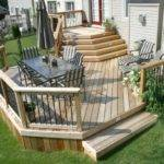 Large Two Level Cedar Deck Rgcw