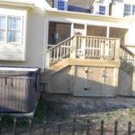 Lattice Access Door Underneath Area Deck