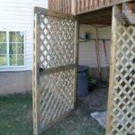 Lattice Door Under Deck Home Pinterest