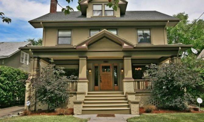 Laurelhurst Classic Foursquare Craftsman House Plans Pinterest