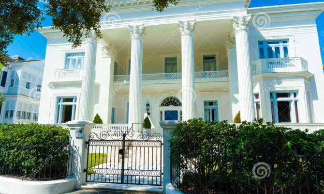 Lavish White Greek Revival Style House Length