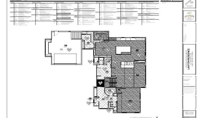 Lawton Residence Finish Floor Plan