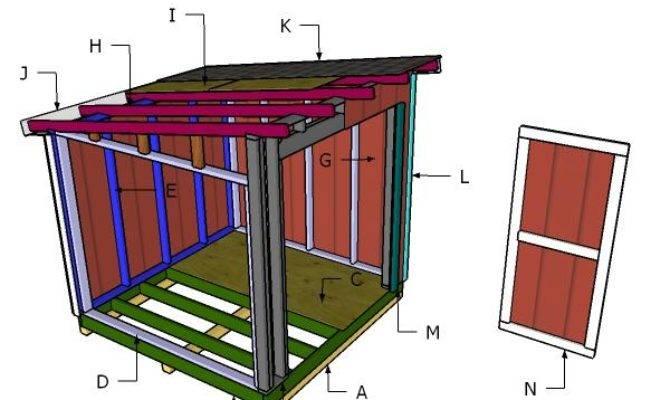 Lean Shed Roof Plans Myoutdoorplans