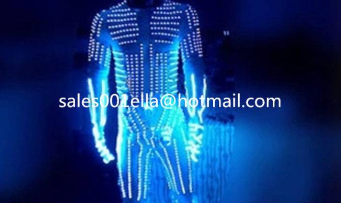 Led Costume Luminous Light Robot Suit Helmet