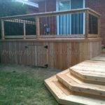 Level Cedar Deck Patio Toronto Decks Design Building