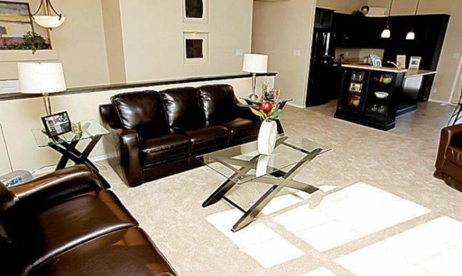 Level Design Creates Open Concept Living Room Perfect
