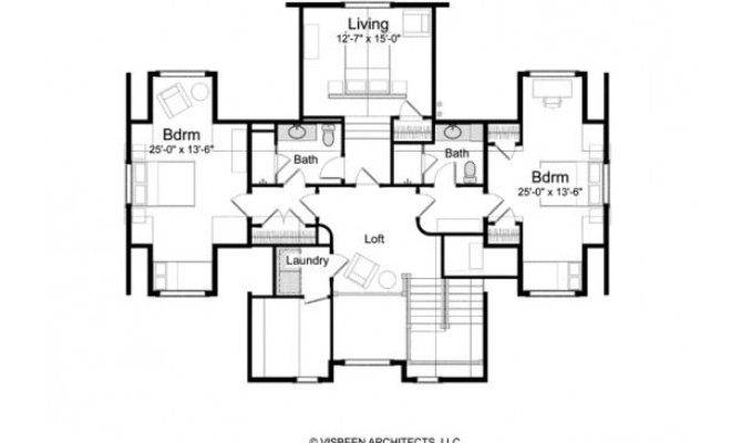 Level Guest Bedroom Living Area Layout Can Lock Off