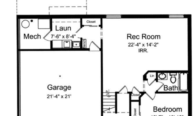 Level Home Plan Floor Master Suite
