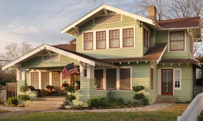 Light Green Craftsman Home Arts Crafts Homes Became Popular