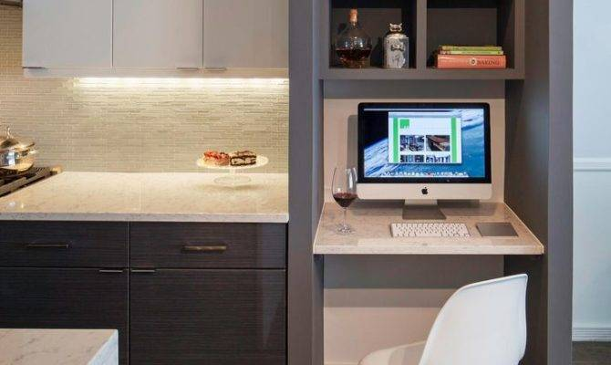 Likeable Kitchen Best Computer Nook Ideas Pinterest