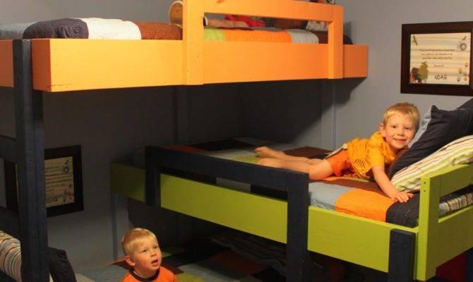 Little Things Triple Bunk Beds Hardwood Floors