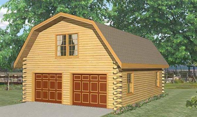 Live Garage Log Home Plan Mywoodhome