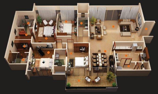 Living Area Four Bedroom Layout Also Privie World Turns