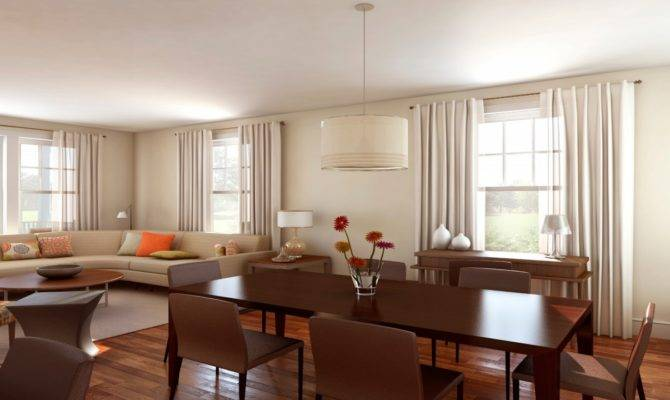 Living Room Dining Ideas Large