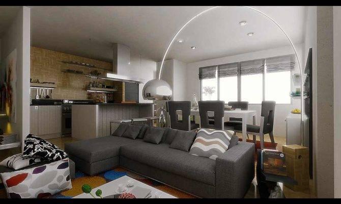 Living Room Dining Together Design