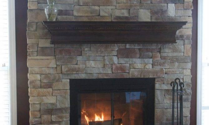 Living Room Extraordinary Stone Fireplaces Home