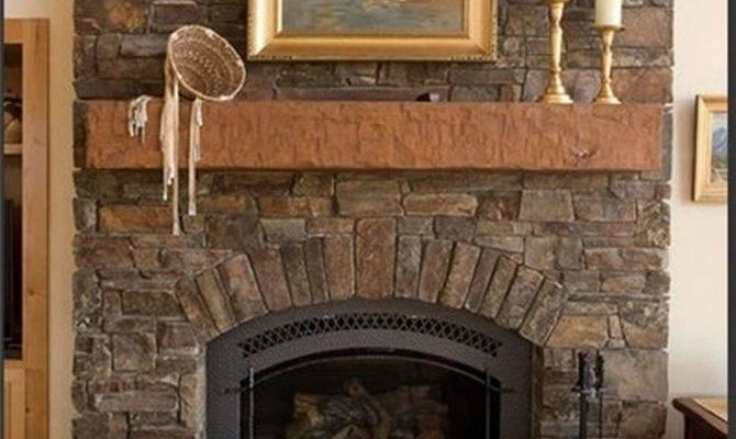 Living Room Inspiring Stone Fireplaces Home Interior
