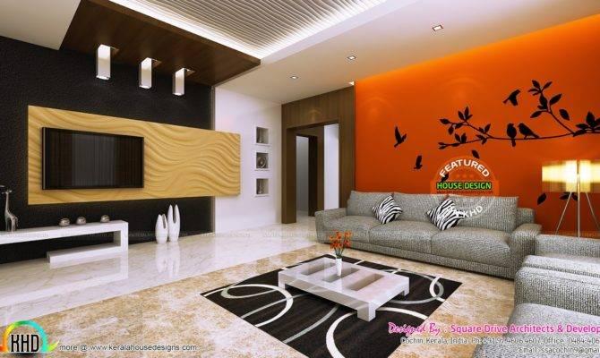 Living Room Ladies Sitting Bedroom Interiors Kerala