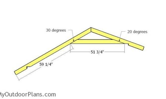 Loafing Shed Saltbox Roof Plans Myoutdoorplans