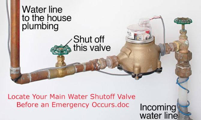 Locate Your Main Water Shutoff Valve Before Emergency