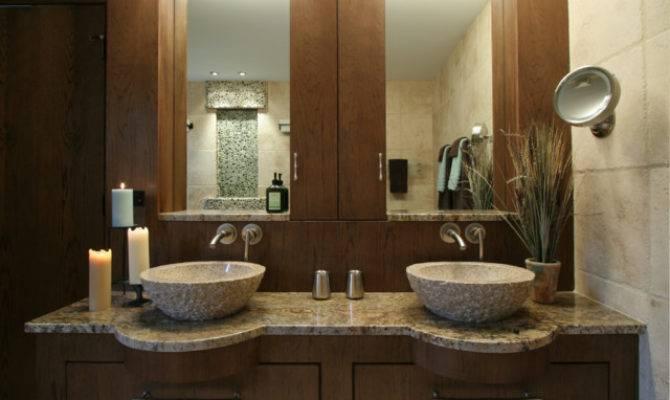 Lodge Contemporary Master Modern Bathroom Chicago