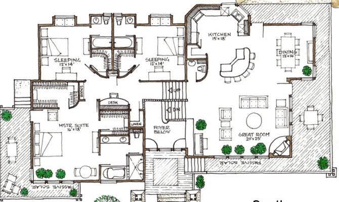 Lodge Green Solar Home Elegant House Plan