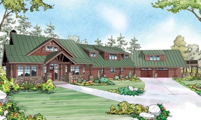Lodge Style House Plans Barnhart Associated Designs