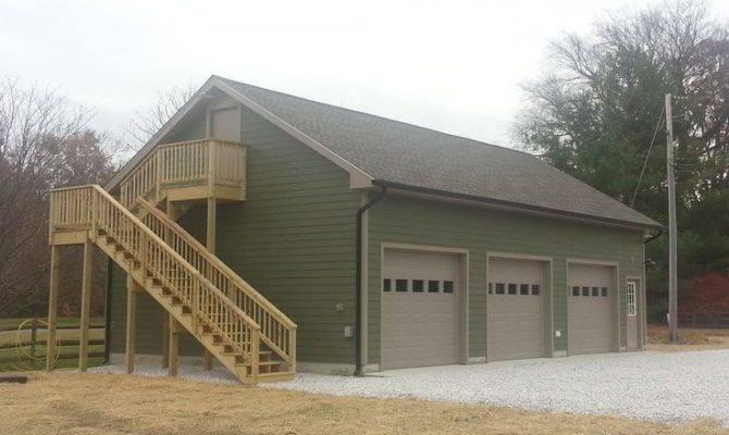 Loft Office New Car Garage Exterior Stairs