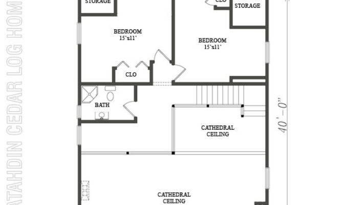 Loft Plan Katahdin Cedar Log Homes