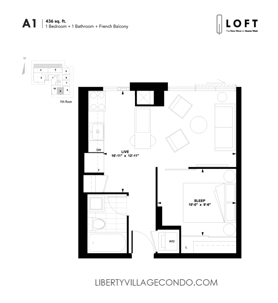 Lofts Queen Liberty Village Condo House Plans 121482