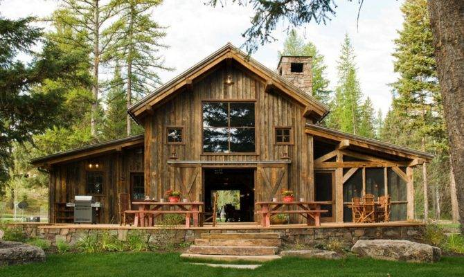 Log Barn Homes Rustic Home Plans