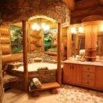 Log Cabin Bathroom Dream Home Pinterest