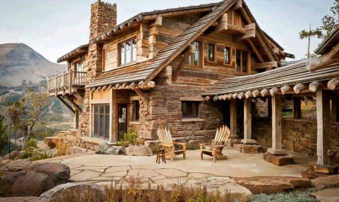 Log Cabin Country Home Pinterest
