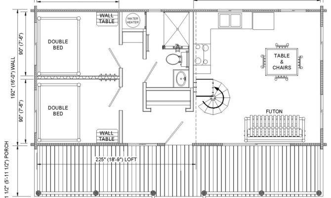 Log Cabin Floor Plans Loft Gambrel Roof Shed