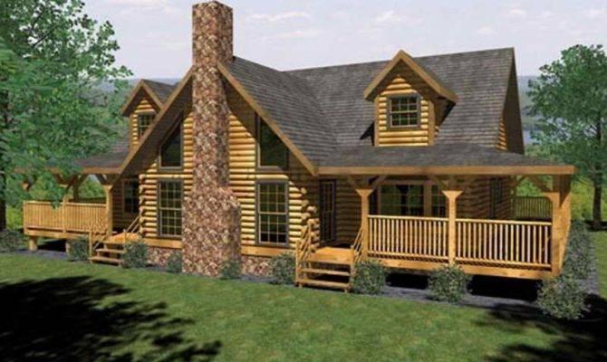 Log Cabin House Plans Open Floor Plan
