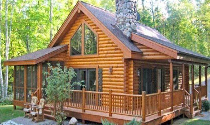 Log Cabin House Plans Porches