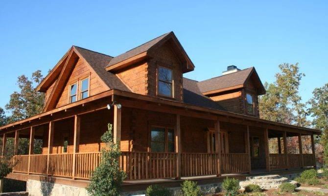 Log Cabin House Plans Wrap Around Porches