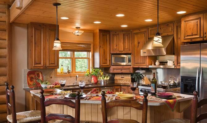 Log Cabin Kitchens Designs Home Kitchen