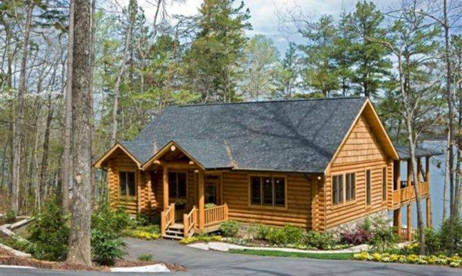 Log Cabin Lake House Plans