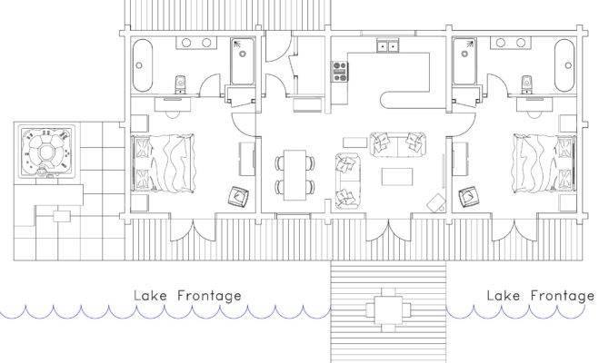 Log Cabin Layout Hot Tubs Patios Suffolk Escape