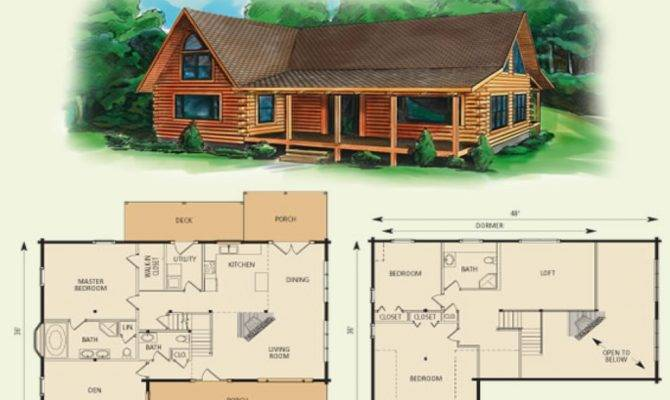 Log Cabin Loft Floor Plans Small Cabins Lofts