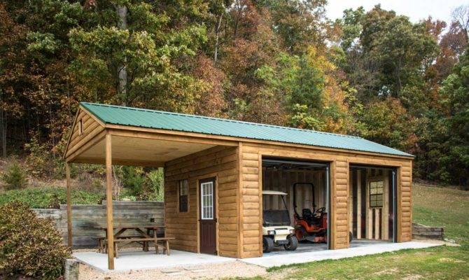 Log Garage Designed Byler Barns