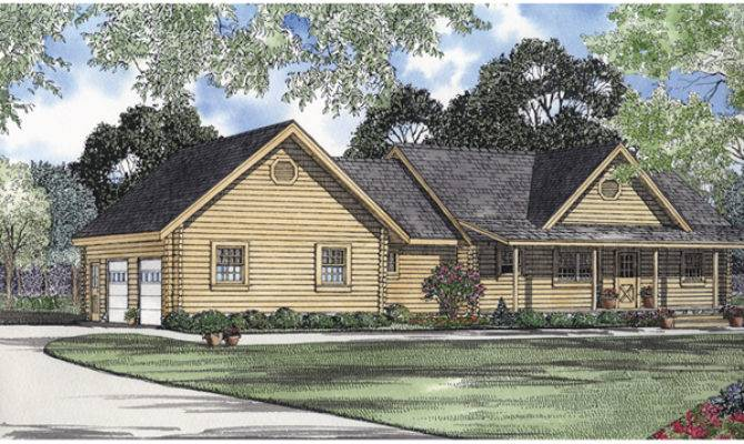 Log Hollow Rustic Ranch Home Plan House Plans