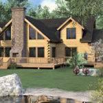Log Home Floor Plan Bedroom Modern Style