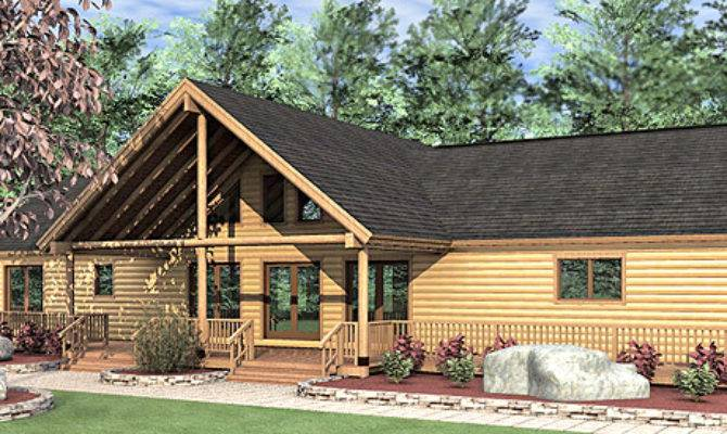 Log Home Floor Plan Bedroom Ranch Style