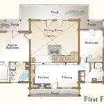 Log Home Floor Plan First