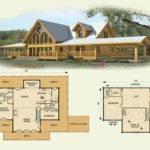 Log Home Floor Plans Loft Garage Deco