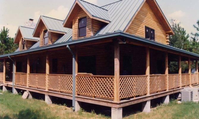 Log Home Floor Plans Wrap Around Porch