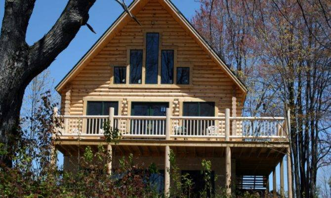 Log Home Plans Walkout Basement Open Floor